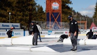 The NHL's Lake Tahoe Outdoor Game Featured Gorgeous Views And Extremely Unsafe Ice Conditions