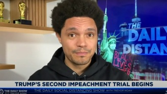 Trevor Noah Is Comparing Trump's Second Impeachment Trial To A Michael Bay Movie