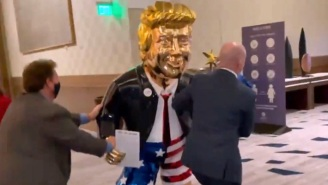 CPAC Rolled Out A Ridiculous Golden Donald Trump Statue, And People Have A Lot Of Comparisons