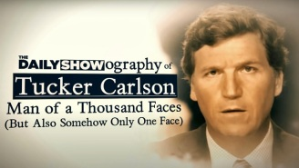 'The Daily Show' Puts Tucker Carlson's Entire Career (And Lone Facial Expression) On The Hot Seat