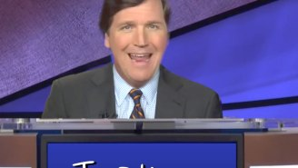 'The Daily Show' Had Tucker Carlson Compete In The World's Worst (And Most Racist) Game Of 'Jeopardy!'