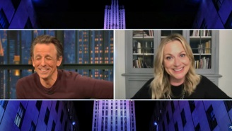 Amy Poehler Went On 'Late Night' And Brought An Outrageously Funny Cave-Diving Joke With Her