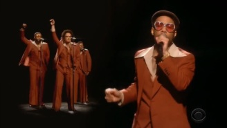 Bruno Mars And Anderson .Paak Bring Silk Sonic To The 2021 Grammys Stage With A Throwback Performance