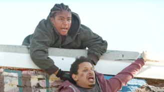 Eric Andre Gets Dangled Off A Roof By Tiffany Haddish In Netflix's 'Bad Trip' Trailer