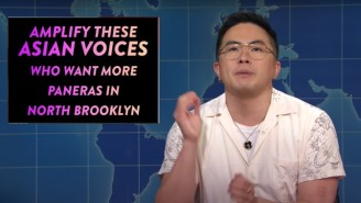 'SNL Weekend Update' Tackled Gun Control, Joe Biden On The Stairs And Anti-Asian Hate Crimes