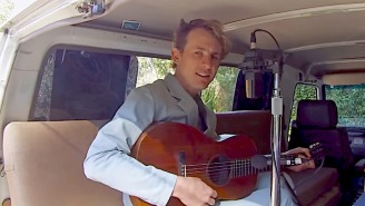 Buck Meek Plays Acoustic Tunes In The Back Of A Van For His Tiny Desk Concert