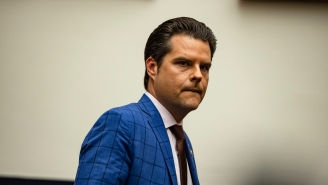 Matt Gaetz Was Trolled With A Banner Reading 'Tick Tock' Flown Over The Florida Courthouse Where His 'Wingman' Pleaded Guilty