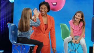 Tiffany Haddish Learning About Her Grammy Win On The Set Of 'Kids Say The Darndest Things' Is The Coolest Thing You'll See Today