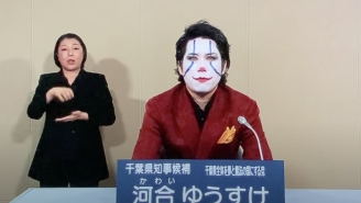 We Live In A Society Where A Man Dressed As The Joker Is Running For Governor In Japan