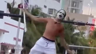 A Florida Man Dressed Up Like The Joker And Declared 'COVID Is Over, Baby!' Amidst Surging Crowds In Miami