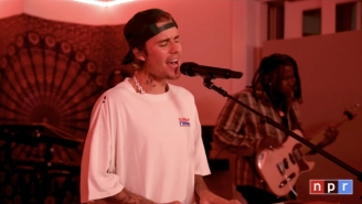 Justin Bieber Previews A New 'Justice' Song In A Stripped-Down Tiny Desk Concert