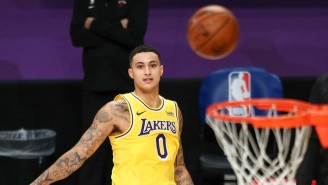 The Warriors Bench Erupted After Kyle Kuzma Airballed A Technical Free Throw