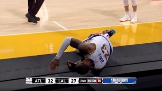 LeBron James Left The Lakers Game Against The Hawks With An Apparent Right Leg Injury