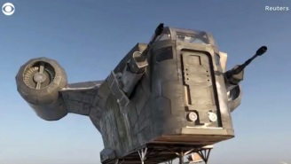 Well, Guess What: Some Russian Dudes Built A Full-Size 'Mandalorian' Spaceship In Siberia