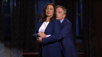 Martin Short Made An 'SNL' Cameo To Get Intimate With Maya Rudolph In A Kamala Harris Sketch