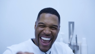 Michael Strahan Appears To Have (Temporarily?) Closed His Signature Tooth Gap