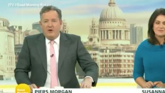 Piers Morgan Stormed Off Set In A Huff On Live TV After A Co-Host Ripped Him For Bashing Harry And Meghan And Defending The Royals