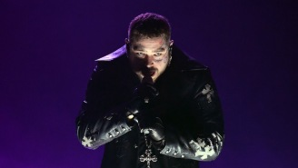 Post Malone Gave A Somber, Gothic 'Hollywood's Bleeding' Performance At The 2021 Grammys
