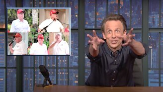 Seth Meyers' Descriptions For 'Lost Grandpa' Trump's Post-Presidency Life Are Bluntly Accurate