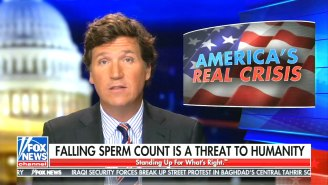 Tucker Carlson Has Found 'The Biggest Story There Is': Humans Going Extinct Due To Lowered Sperm Counts Caused By Smoking Weed