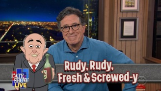 Stephen Colbert On Rudy Giuliani: 'The Only Lawyer Dumb Enough To Defend Him Just Got Raided By The Feds'