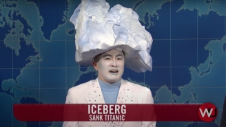 Bowen Yang Stole The Show As The Iceberg That Sank The Titanic In A Hilarious 'SNL Weekend Update' Segment