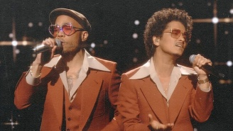 Bruno Mars And Anderson .Paak Share A Soulful Live Rendition Of Silk Sonic's 'Leave The Door Open'
