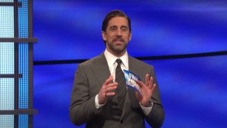 Aaron Rodgers Gave A Glimpse Of The Sticky Note Reminders He Kept On His 'Jeopardy!' Podium