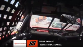 Bubba Wallace's In-Car Camera View Of Joey Logano's Car Flipping In Front Of Him Is Straight Out Of A Movie