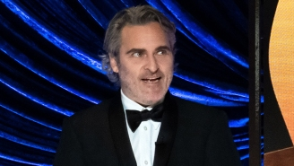 Joaquin Phoenix's Chaotic Best Actor Presentation Also Included A Nod To One Of The Actor's Causes