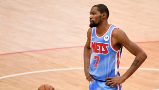 Kevin Durant Had To Leave Nets-Heat With A Left Thigh Contusion