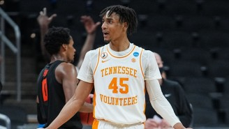 Tennessee's Keon Johnson Broke The NBA Draft Combine Record With A 48 Inch Vertical
