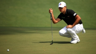 Si Woo Kim Had To Putt With His 3-Wood At The Masters After He Got Mad And Snapped His Putter