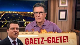 Stephen Colbert Is Absolutely Flabbergasted By The Incessant 'Almost Too Florida' Twists In The Matt Gaetz Scandal