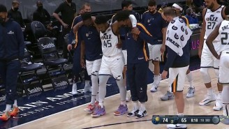 Donovan Mitchell Got Helped To The Locker Room After Rolling His Ankle Against The Pacers