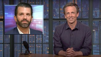 Seth Meyers Cooked 'Sweaty, Bloated' Donald Trump Jr. For Spreading Fox News' 'Dumb' Lie About Red Meat