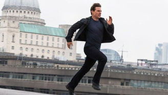 Tom Cruise Dangles From A Train In A New 'Mission: Impossible 7' Photo From Director Chris McQuarrie