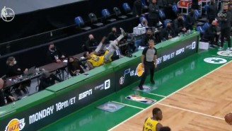 Juan Toscano-Anderson Went To The Locker Room After Getting Hurt On An Incredible Hustle Play