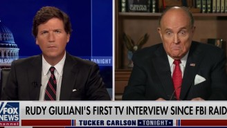Rudy Giuliani Joined Tucker Carlson On Fox News To Get Mad That FBI Agents Didn't Seize Enough Of His Stuff