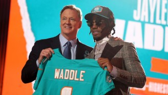 NFL Fans Couldn't Stop Laughing At Jaylen Waddle Just Walking Away From His Family As He Got Drafted