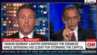 The QAnon Shaman's Lawyer And Chris Cuomo Had A Spirited Discussion About Mental Health and Grooming Products