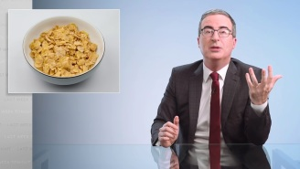 John Oliver Is Pissed Off Over How Boring Breakfast Cereal Has Become