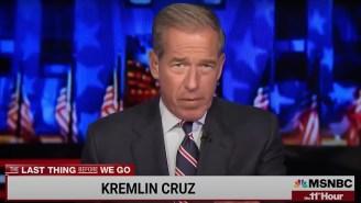 Brian Williams Ripped 'Incredibly Stupid' Ted Cruz For Sharing Russian Propaganda, Calling Him 'Kremlin Cruz'