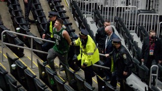 The Celtics Fan Who Threw A Bottle At Kyrie Has Been Charged With Felony Assault And Battery