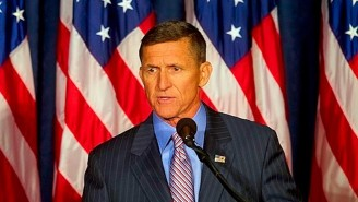 Former Trump Staffer Michael Flynn Seemed To Forget The Words To The Pledge Of Allegiance At A Rally For Lin Wood