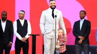 Drake Celebrated His Artist Of The Decade Award By Accepting It With His Son In His Arms