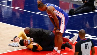 An Idiot Fan Got Tackled By Security Trying To Storm The Court In The Middle Game 4 In Washington
