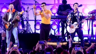The Jonas Brothers And Marshmello Perform 'Leave Before You Love Me' At The Billboard Music Awards