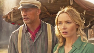 Emily Blunt Punches The Rock In The Face (And Jesse Plemons Launches A Torpedo At Him) In Disney's 'Jungle Cruise' Trailer