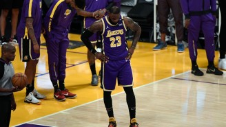 LeBron James Checks Out Of Lakers Regular Season Finale With Possible Ankle Injury